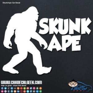 Skunk Ape Bigfoot Decal Sticker