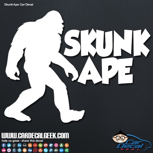 Skunk Ape Bigfoot Decal Sticker