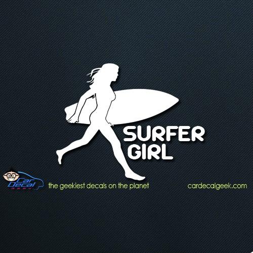 Surfer Girl Car Window Decal Sticker Graphic
