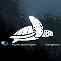 Sea Turtle Swimming Car Sticker Decal