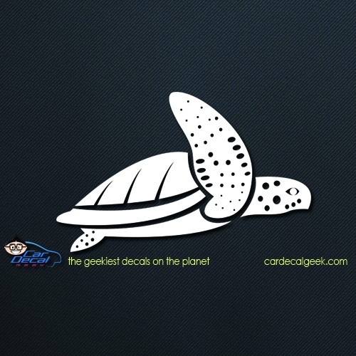 Sea Turtle Swimming Car Sticker Decal