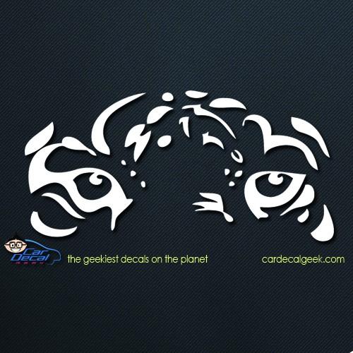 Tiger Face Car Sticker Decal
