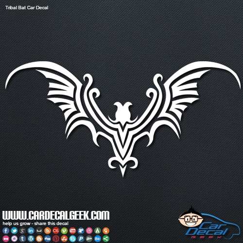 Tribal Bat Car Decal Sticker