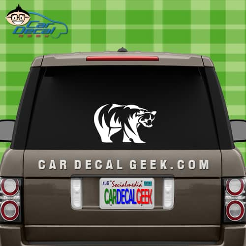 Tribal Bear Car Window Decal Sticker Graphic