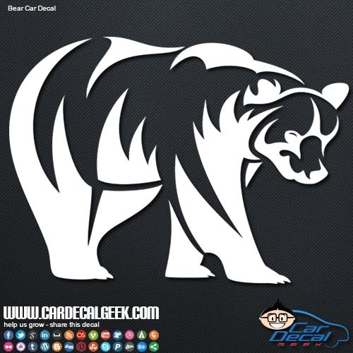 Tribal Bear Car Window Decal Sticker