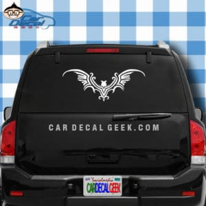 Tribal Bat Car Decal Sticker Graphic