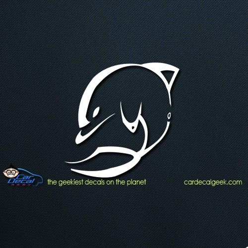 Abstract Dolphin Car Window Decal
