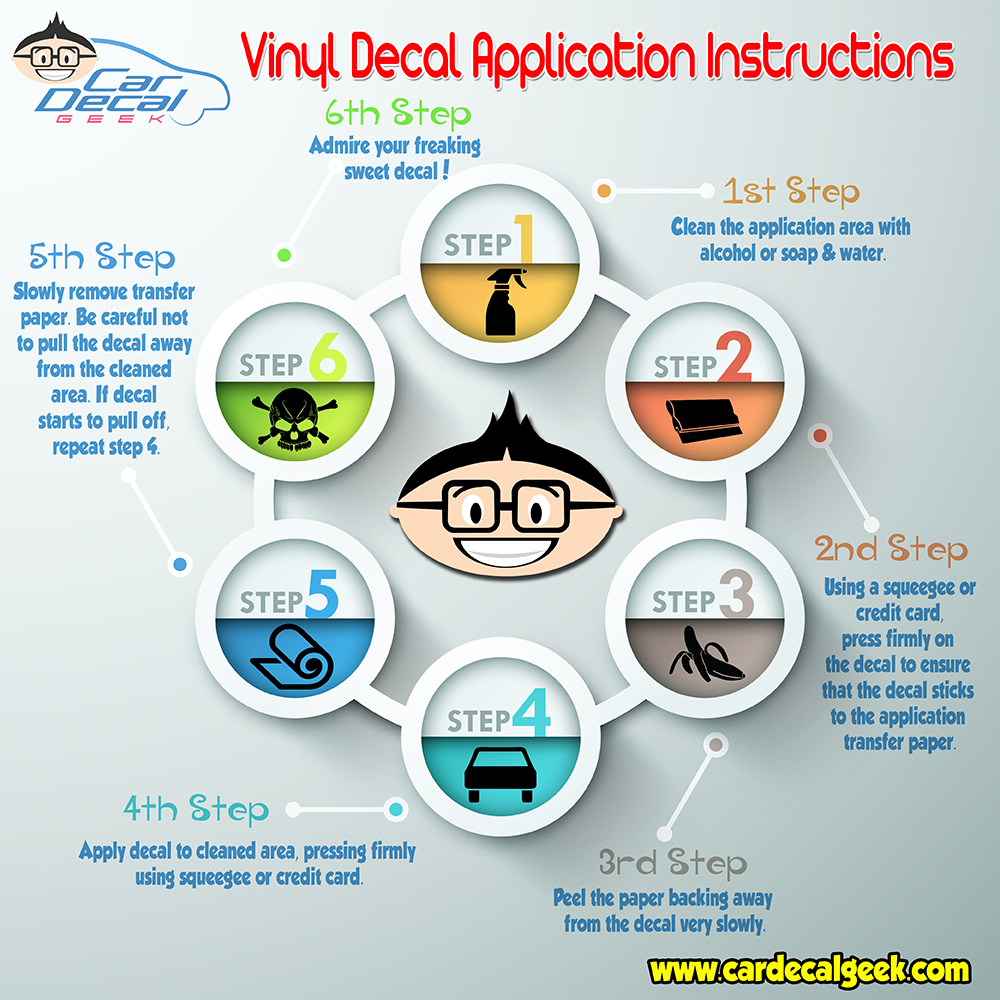 Vinyl Car Decal Sticker Application Instructions