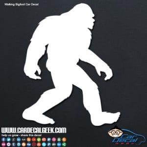 Bigfoot Walking Car Window Decal Sticker