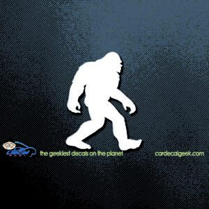 Walking Bigfoot Car Window Decal Sticker