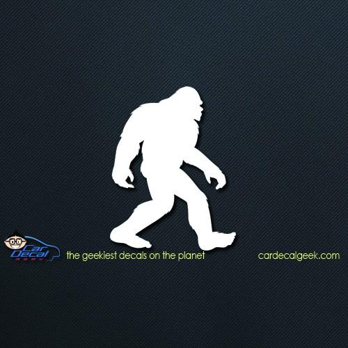 Walking Bigfoot Car Window Decal Sticker