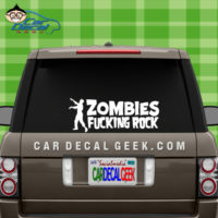 Zombies Fucking Rock Car Window Decal Sticker Graphic