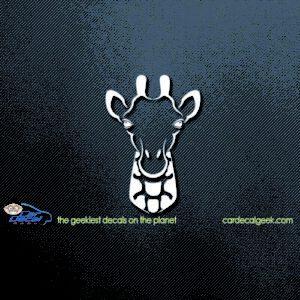 Giraffe Head Car Decal