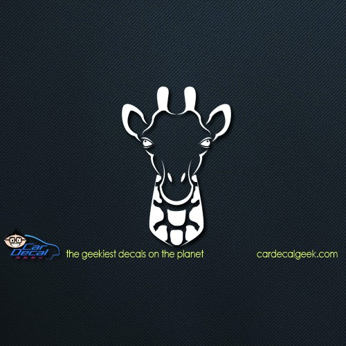 Giraffe Head Car Decal