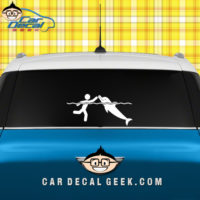 Swimming With Dolphins Car Window Sticker Graphic