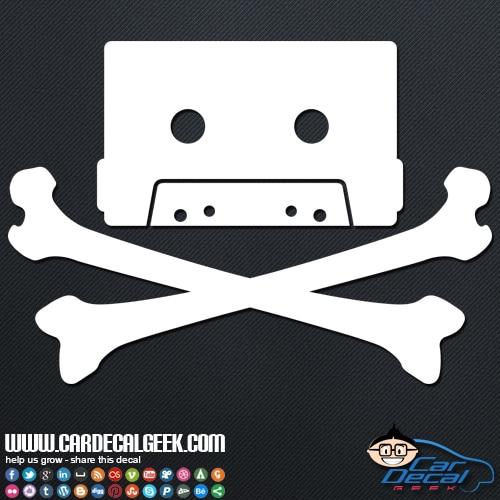 80s Cassette Tape Skull Car Decal