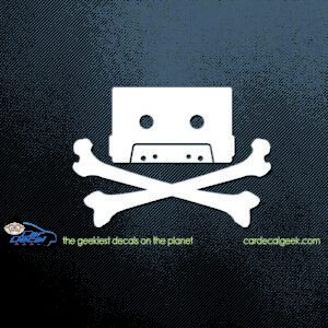80s Cassette Tape Skull Car Sticker
