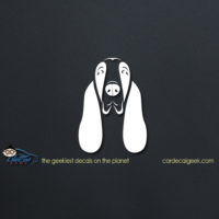 Adorable Basset Hound Face Car Decal
