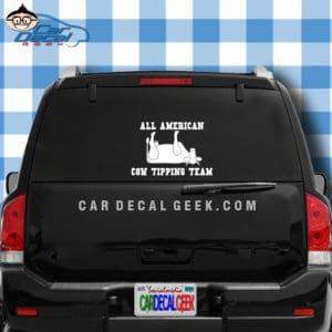 All American Cow Tipping Team Car Window Decal Sticker