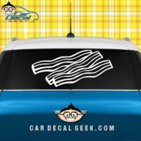 Delicious Bacon Car Window Sticker Decal