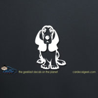 Basset Hound Dog Car Vinyl Decal