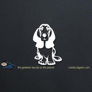Basset Hound Dog Car Vinyl Decal