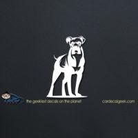Boxer Dog Car Window Decal