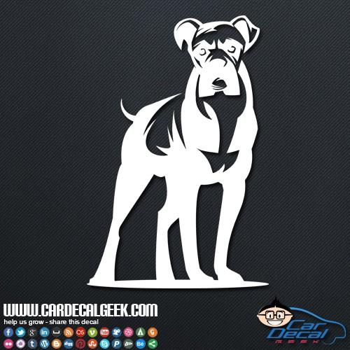 Boxer dog car window sticker