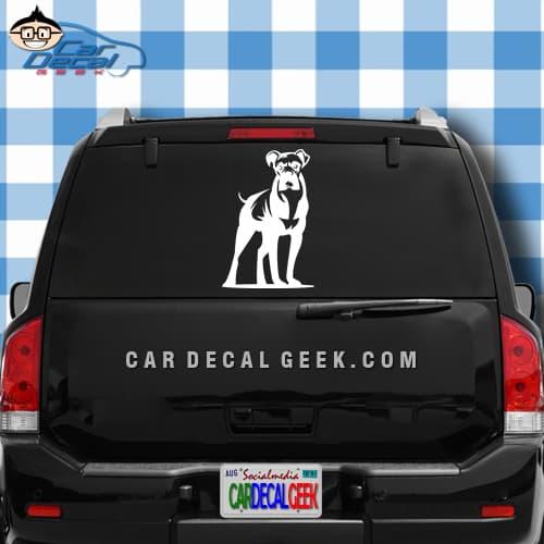 Boxer dog car window decal boxer dog vinyl car window decal sticker