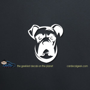 Boxer Dog Face Car Decal