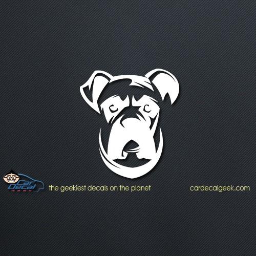 Boxer Dog Face Car Decal