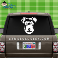 Boxer Dog Face Car Vinyl Car Window Sticker