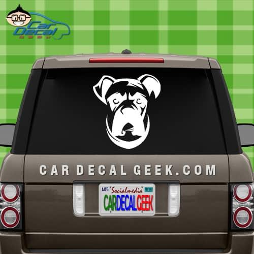 Boxer Dog Face Car Vinyl Car Window Sticker