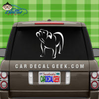 Bulldog Outline Car WIndow Decal Sticker