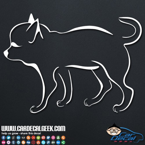 Cute Chihuahua Vinyl Car Sticker