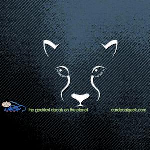Panther Mountain Lion Cougar Car Decal