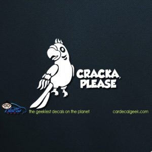 Cracka Please Parrot Car Decal
