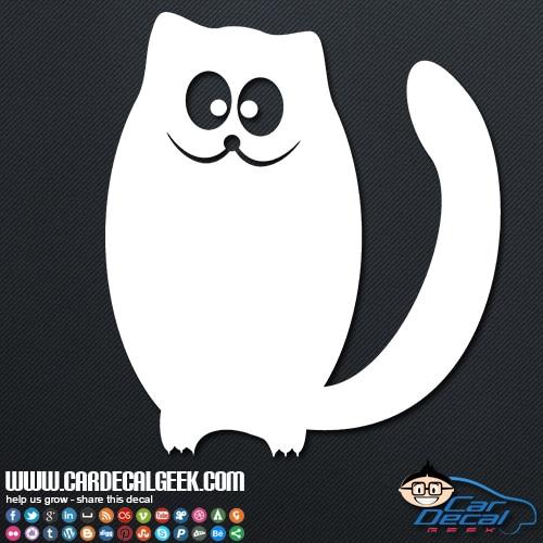 Cute Cat with Big Eyes Car Decal Sticker
