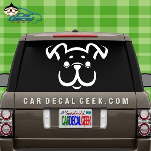 Cute Happy Puppy Dog Car Window Decal Sticker