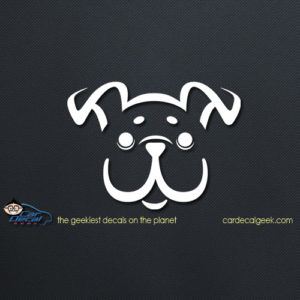 Cute Happy Puppy Dog Car Decal