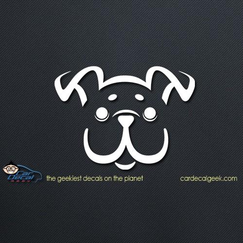 Cute Happy Puppy Dog Car Decal