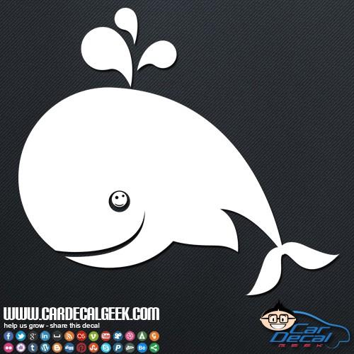 Fun Happy Whale Car Sticker