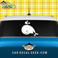 Cute Happy Whale Car  Window Decal Sticker