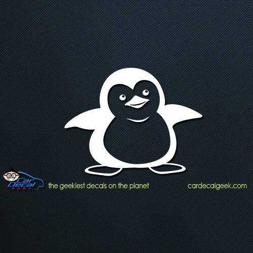 Cute Penguin Car Decal