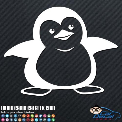 Cute Penguin Car Sticker