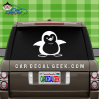 Cute Penguin Car Window Decal Sticker