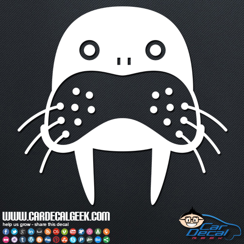 Cute Walrus Car Sticker