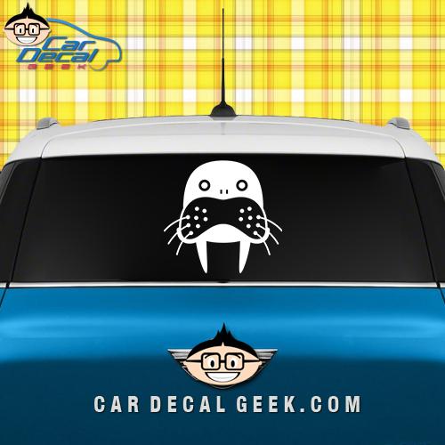 Cute Walrus Car Window Decal Sticker