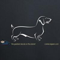Cute Dachshund Dog Car Decal