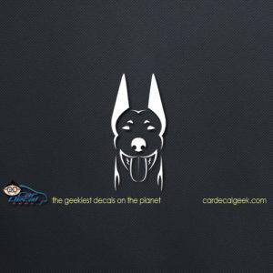 Doberman Dog Car Window Vinyl Decal Sticker